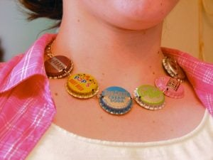 Vintage Bottle Cap Necklace Confessions of a Teenage Drama Queen