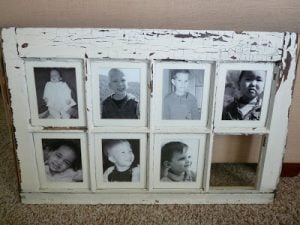 Window Pane Picture Frame Idea