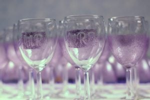 Wine Glass Painting Design