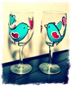 Wine Glasses Painting Party