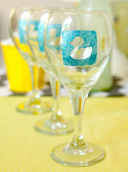 Hand Painted Bridesmaid Wine Glasses