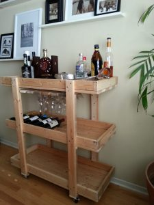 Bar Cart with Wine Rack