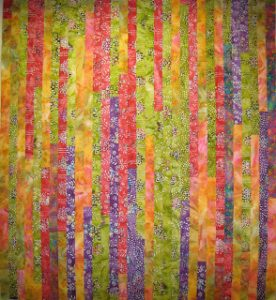 Batik Jelly Roll Quilt
