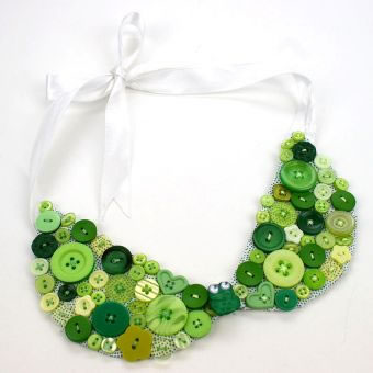 Button Collar Necklace