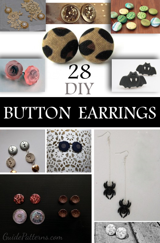 How To Make Button Earrings 28 Interesting Diys And Ideas Guide