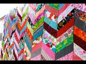 Chevron Quilt Pattern Using Jelly Roll