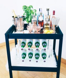DIY Bar Cart Changing Table