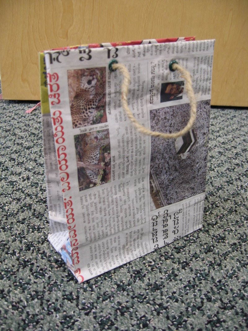 Easy Newspaper Bag Tutorial