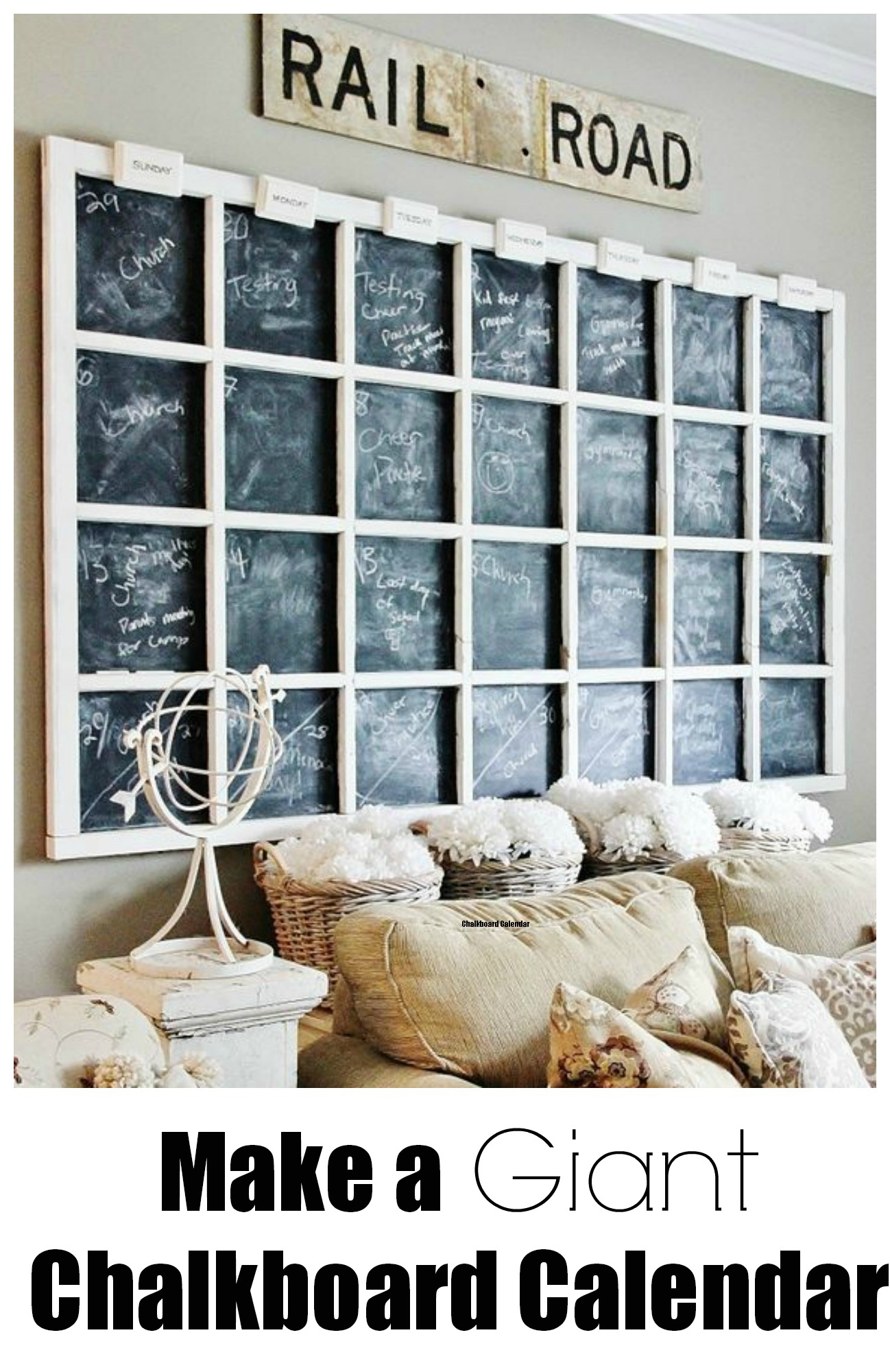 Diy Giant Calendar : Chalkboard calendar diys guide patterns