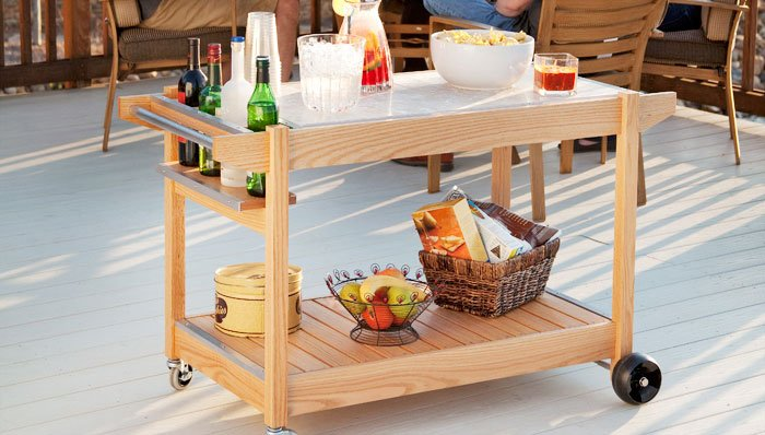 Wooden Patio Serving Carts ~ Bar cart how to make in diy ways guide patterns