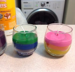 Homemade Crayon Candles without Wax