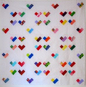 Jelly Roll Heart Quilt Pattern