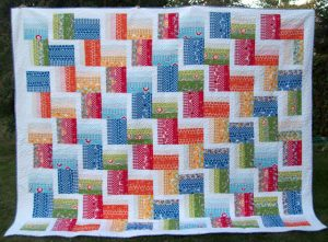 Jelly Roll King Quilt