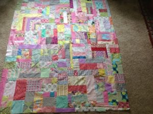 Jelly Roll Quilt Log Cabin