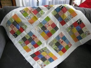 Jelly Roll Quilt as You Go Pattern
