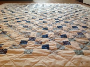 Jelly Roll Quilt Blue Lagoon