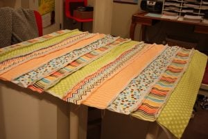 Jelly Roll Rag Quilt