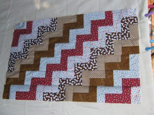 Jelly Roll Zig Zag Quilt Pattern