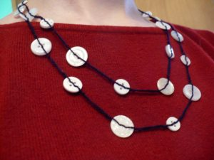 Knotted Button Necklace
