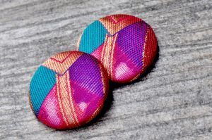 Large Button Earrings