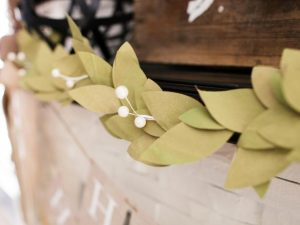 Leaf Garland for Christmas