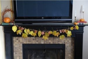 DIY Leaf Garland