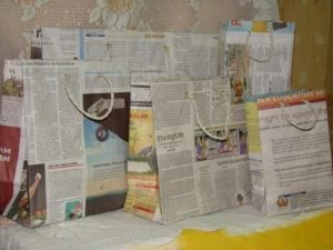 Newspaper Bags Craft