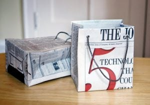 Newspaper Shopping Bags