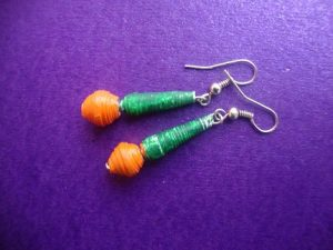Paper Quilling Earrings for Kids
