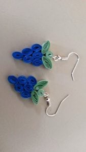 Quilling Earrings Grapes