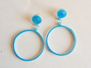 Quilling Earrings Hoops