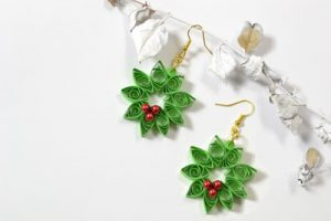 Quilling Earrings for Christmas