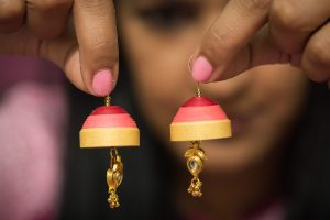 Quilling Jhumka Earrings