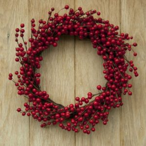 Red Berry Wreath for Front Door