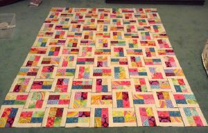Sparkling Gemstones Jelly Roll Quilt