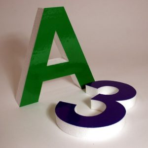 Styrofoam Letter and Number