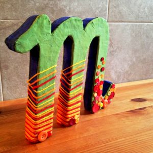 Styrofoam Letter for Craft