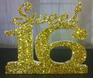 Styrofoam Letters for Sweet 16