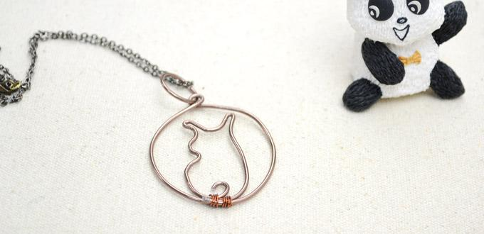 Wire Wred Cat Pendant