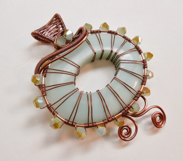 wire wrapped pendant donuts - photo #23