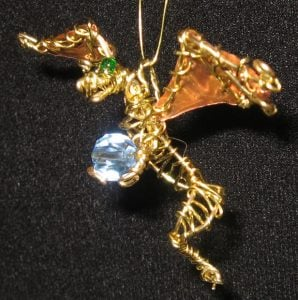 Wire Wrapped Dragon Pendant