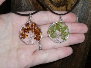 Wire Wrapped Tree Pendants