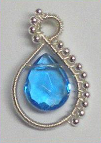 Wire Wrapping Briolette Pendant