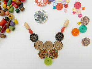 Wooden Button Necklace