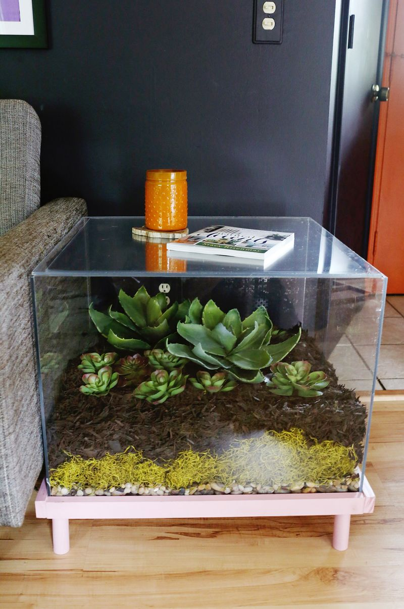 Fish tank living room table - Aquarium Coffee Table Diy