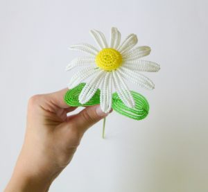 Beaded Wire Flower
