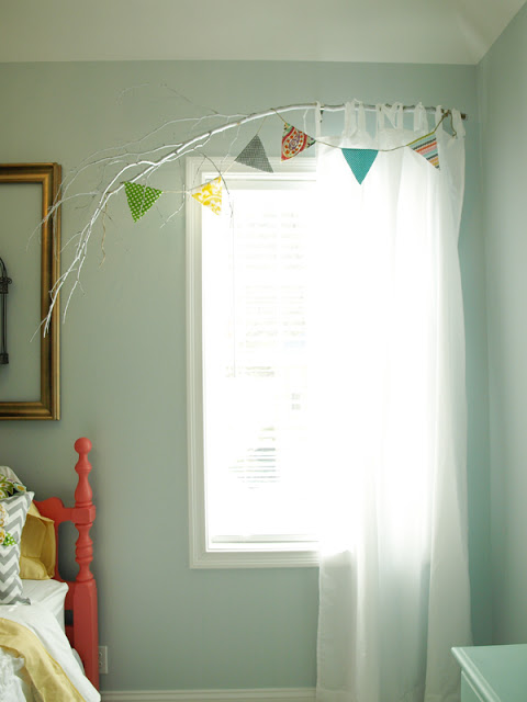 Delightful Branch Curtain Rod Tutorial