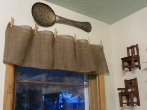 Burlap Window Valance