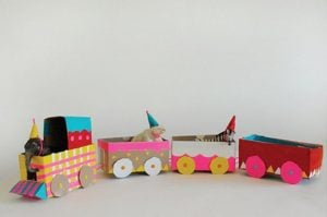 Cardboard Box Train Craft