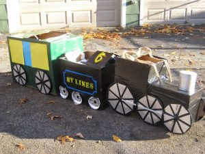 Cardboard Polar Express Train